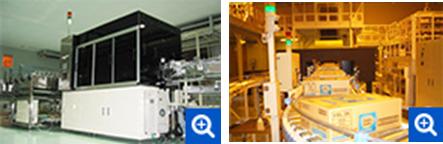 オムロン製のラベル検査機とダンボール印字検査機